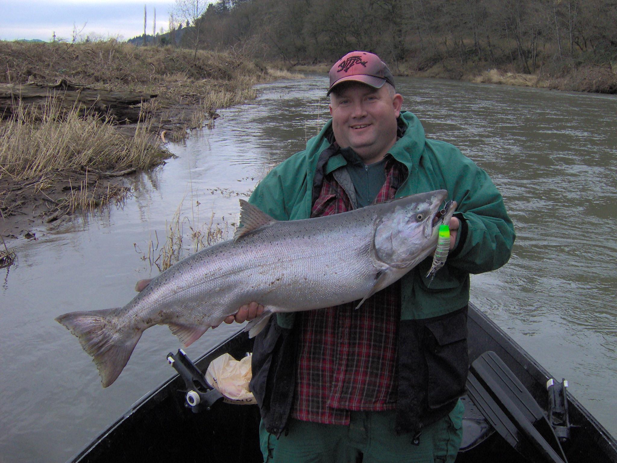 Salmon steelhead fishing on oregon 39 s nestucca river for Trask river fishing report